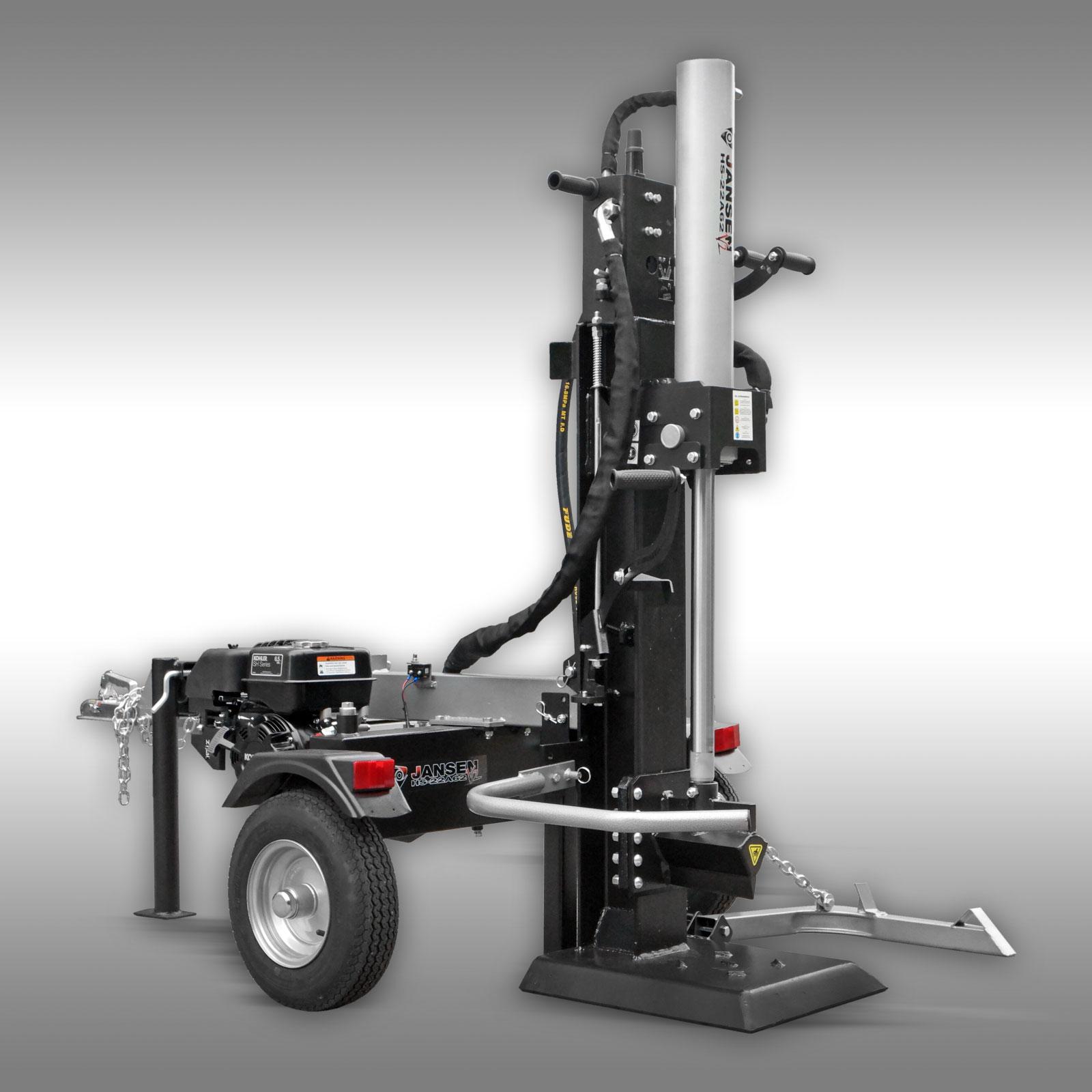 Jansen Houtklover HS-22A62-V2, 22 t, 62 cm, benzine, staand, Kloofmachine
