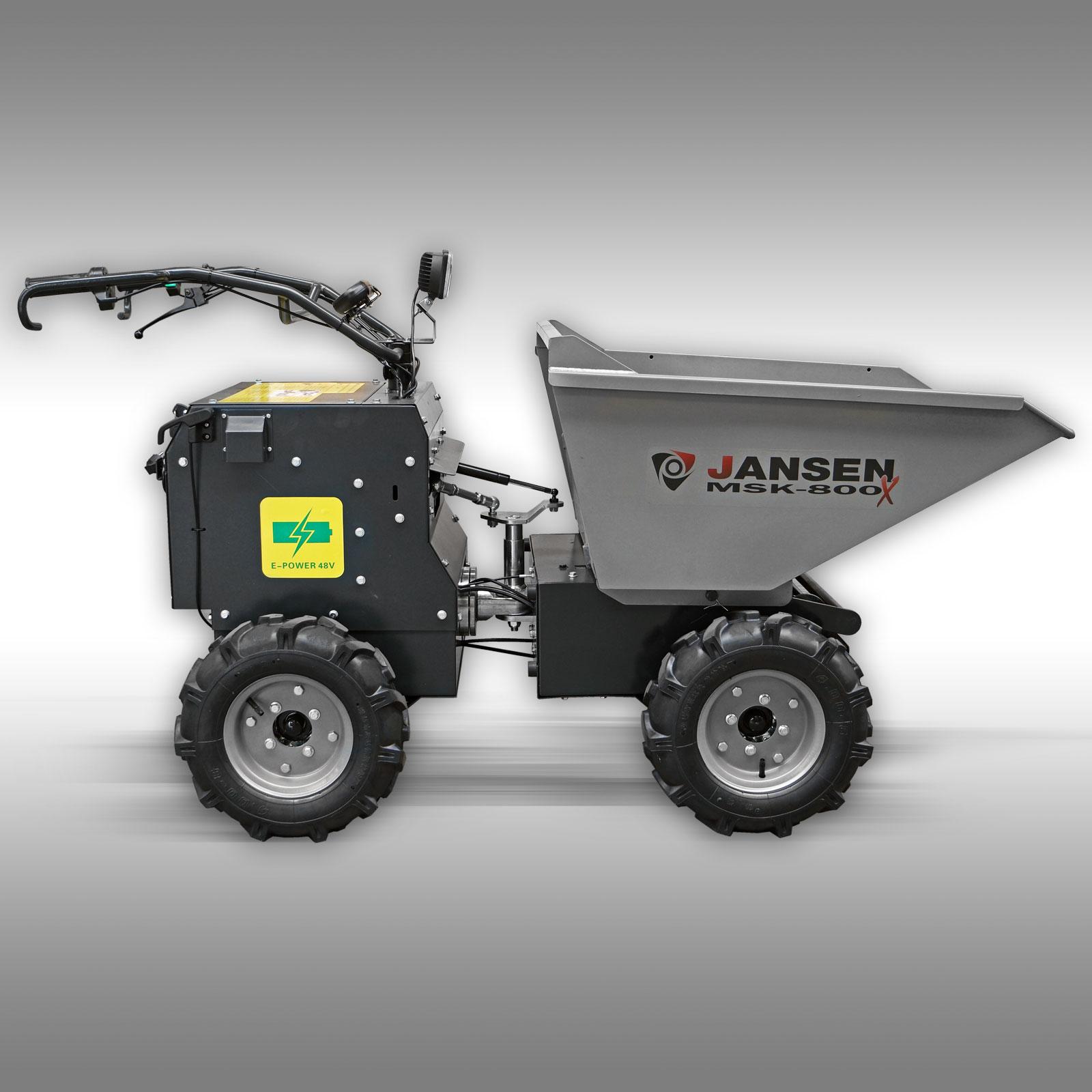 Motorkruiwagen Jansen MSK-800X elektromotor 800W, minidumper, 4x4 vierwielaangedreven
