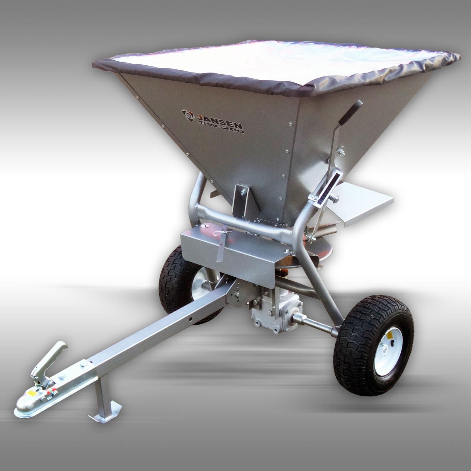 Jansen Strooiwagen SW-200, strooier, meststrooier, zoutstrooier