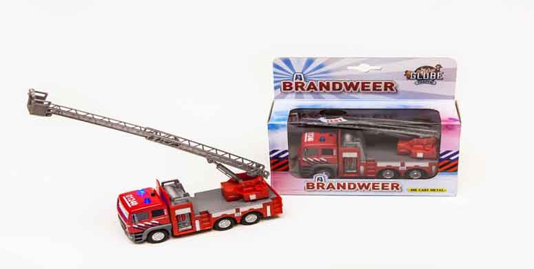 Kids Globe Brandweer ladderwagen