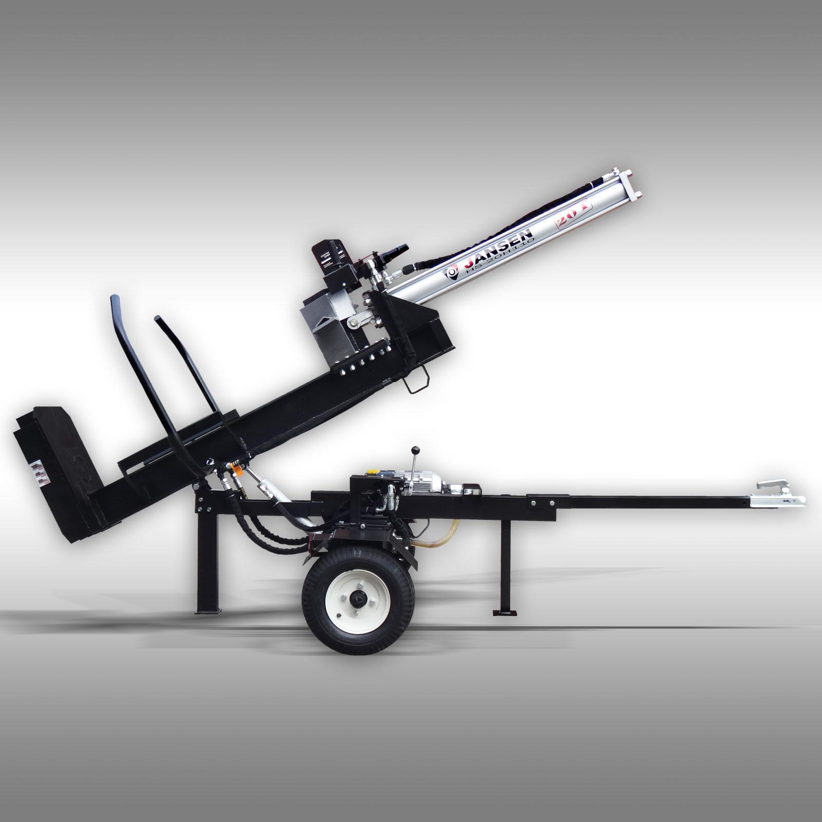 Jansen Houtklover HS-20H110E elek., 20 t, 110cm, hydr. Kiepsysteem, Kloofmachine