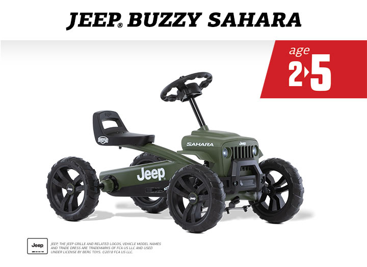 BERG Buzzy Jeep Sahara skelter