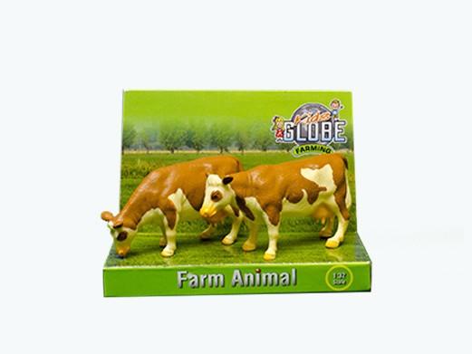 Set Kids Globe Koeien 2st vlekvee staand 1:32