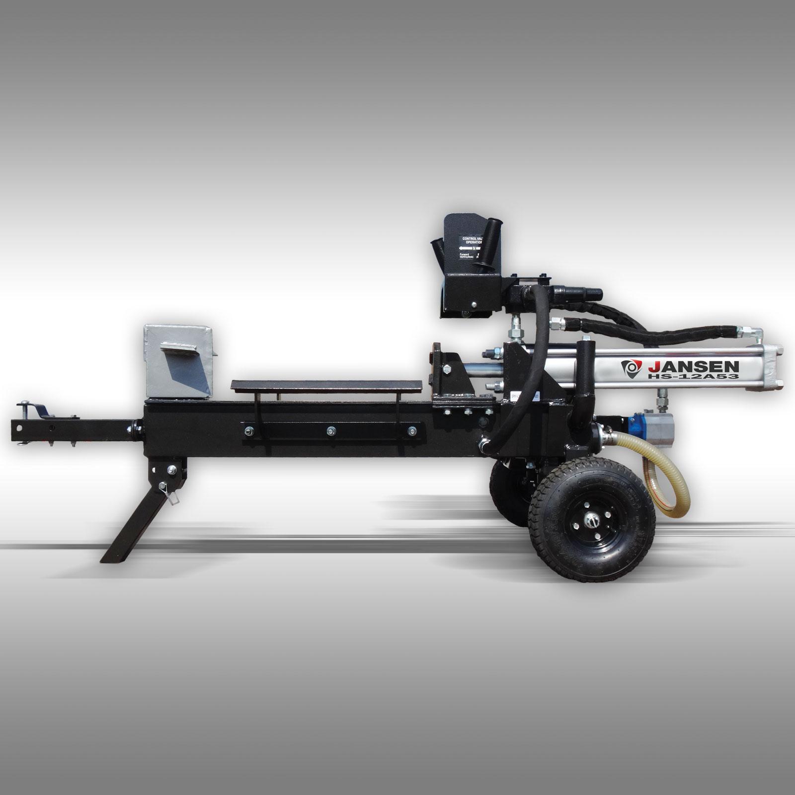 Jansen Houtklover HS-12L53, 12 t, 53 cm, liggend, 6,5 pk benzine, Kloofmachine