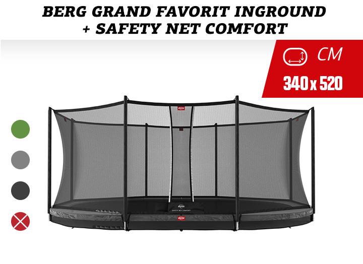 BERG Grand Favorit InGround Trampoline  + Safetynet Comfort