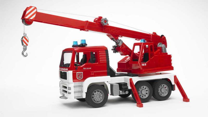 Brandweer kraanauto MAN met licht/geluid module