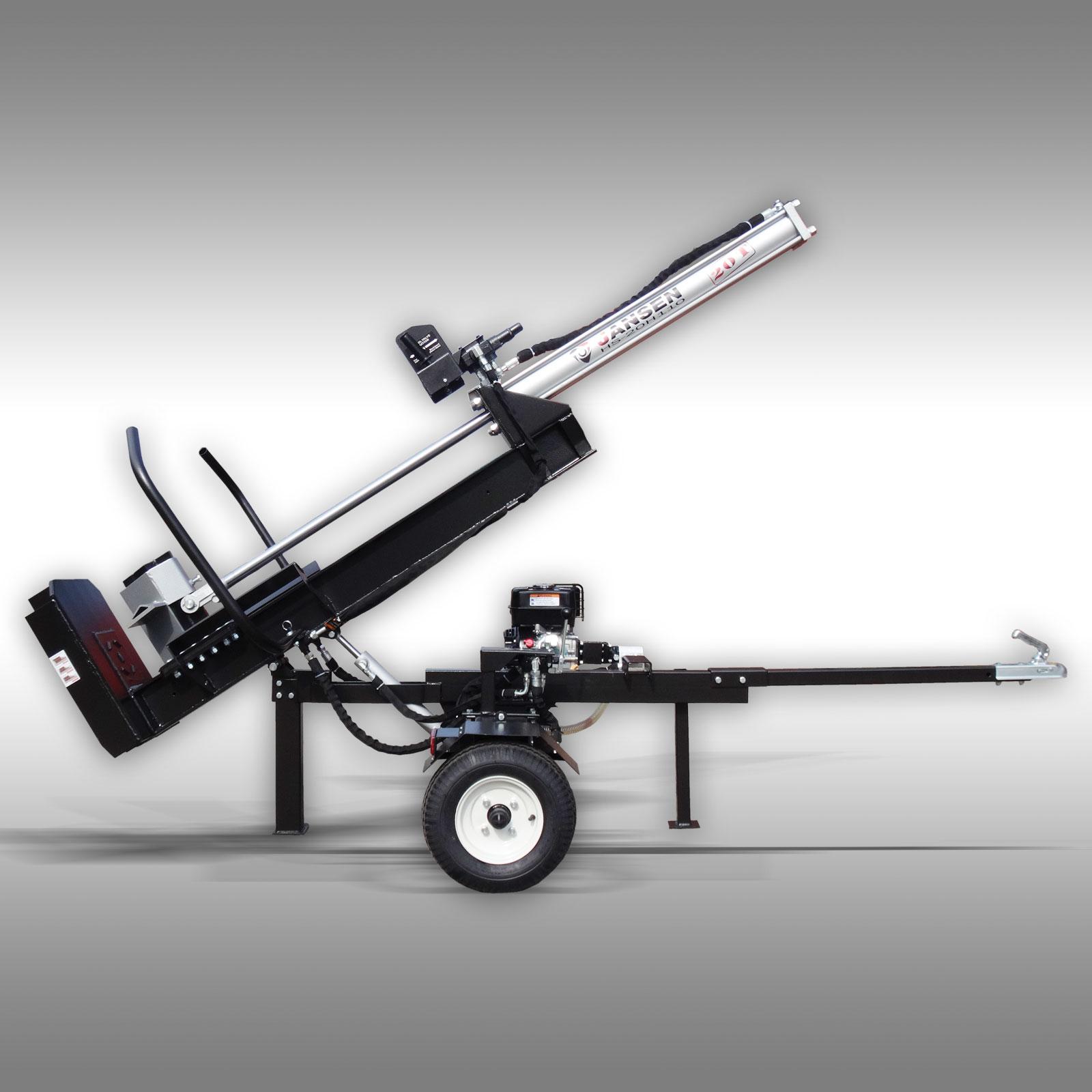 Jansen Houtklover HS-20H110-V2, 20 t, 110 cm, benzine, Kloofmachine, hydr. kippen