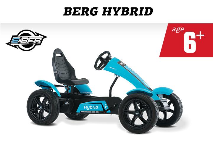 Elektrische skelter BERG Hybrid E-BFR met trapondersteuning