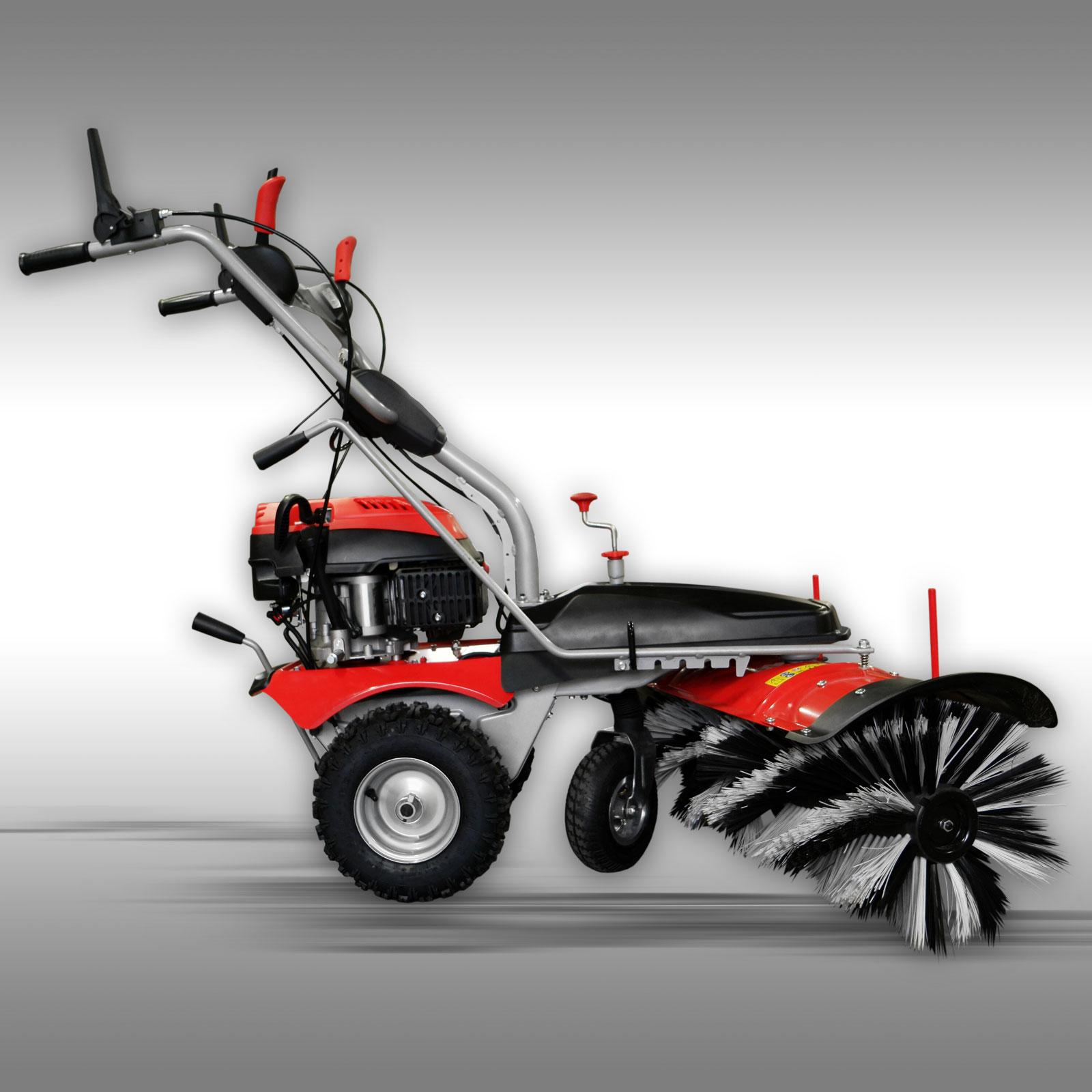 Veegmachine Jansen MKB-500 E incl. sneeuwschild + opvangbak + elektrostarter