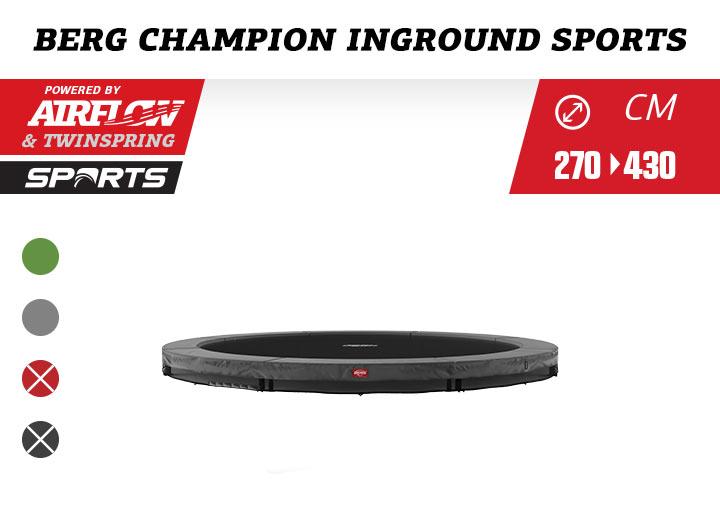 BERG Inground Champion Trampoline Sportseries 270-330-380-430
