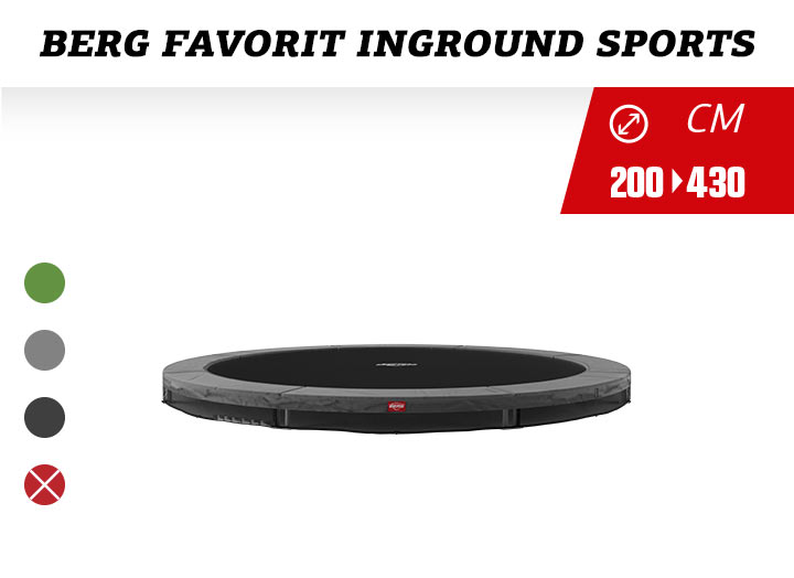 BERG Favorit Inground Trampoline Sportseries 200-270-330-380-430