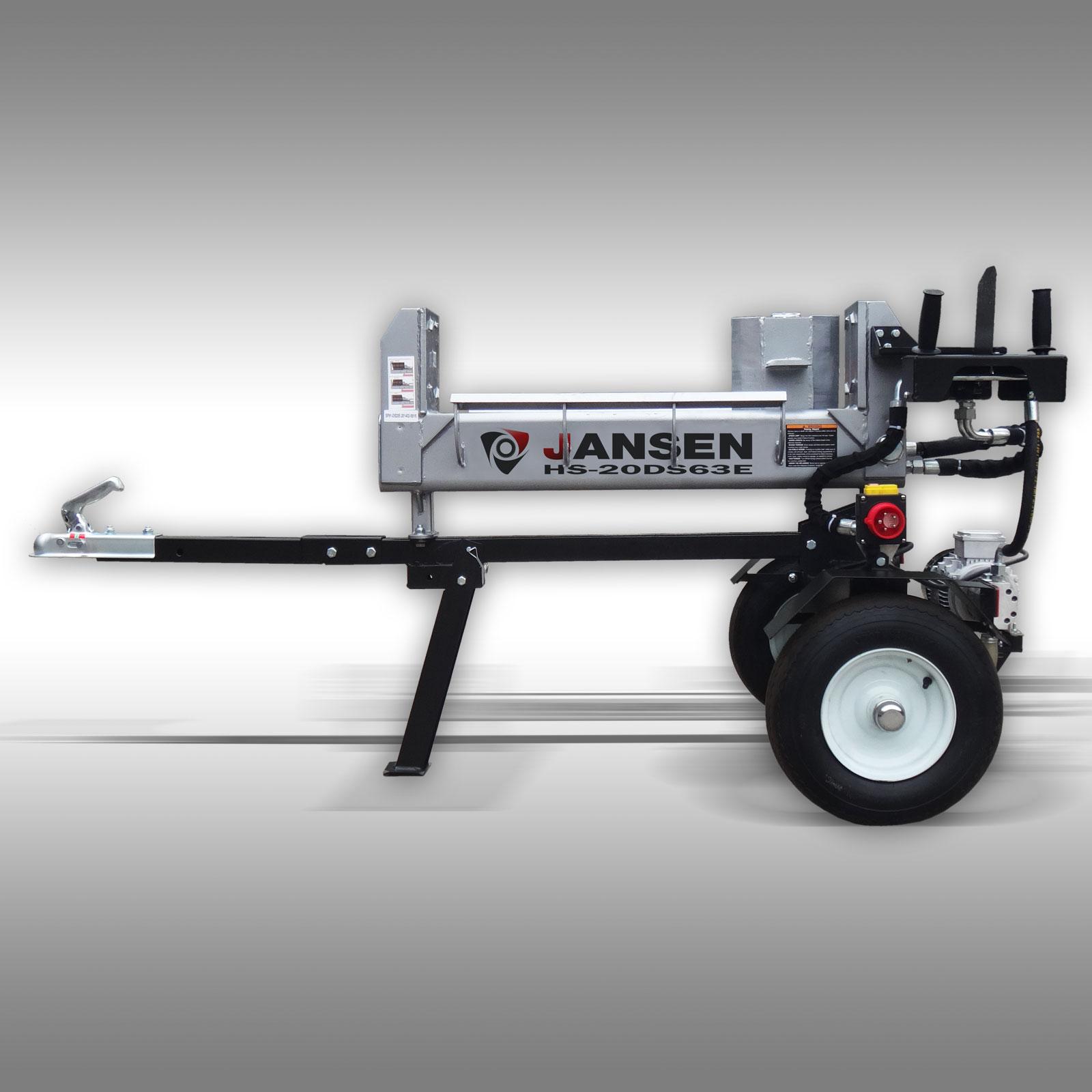 Jansen Houtklover HS-20DS63E elektro, 20 t, 63 cm, dubbelwerkende kloofmachine