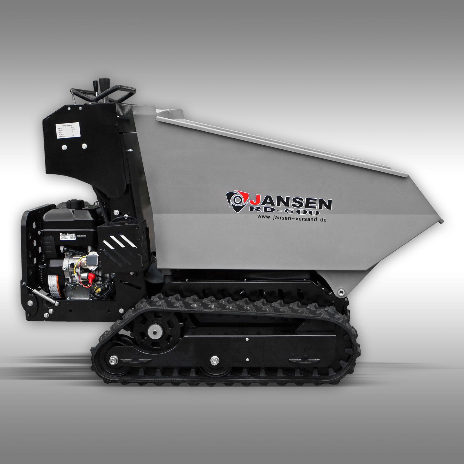 Rupsdumper Jansen RD-600, benzinemotor, hydrostatisch