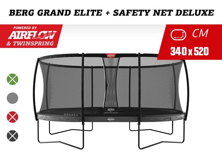 BERG Grand Elite Regulair trampoline + Safetynet Deluxe 520