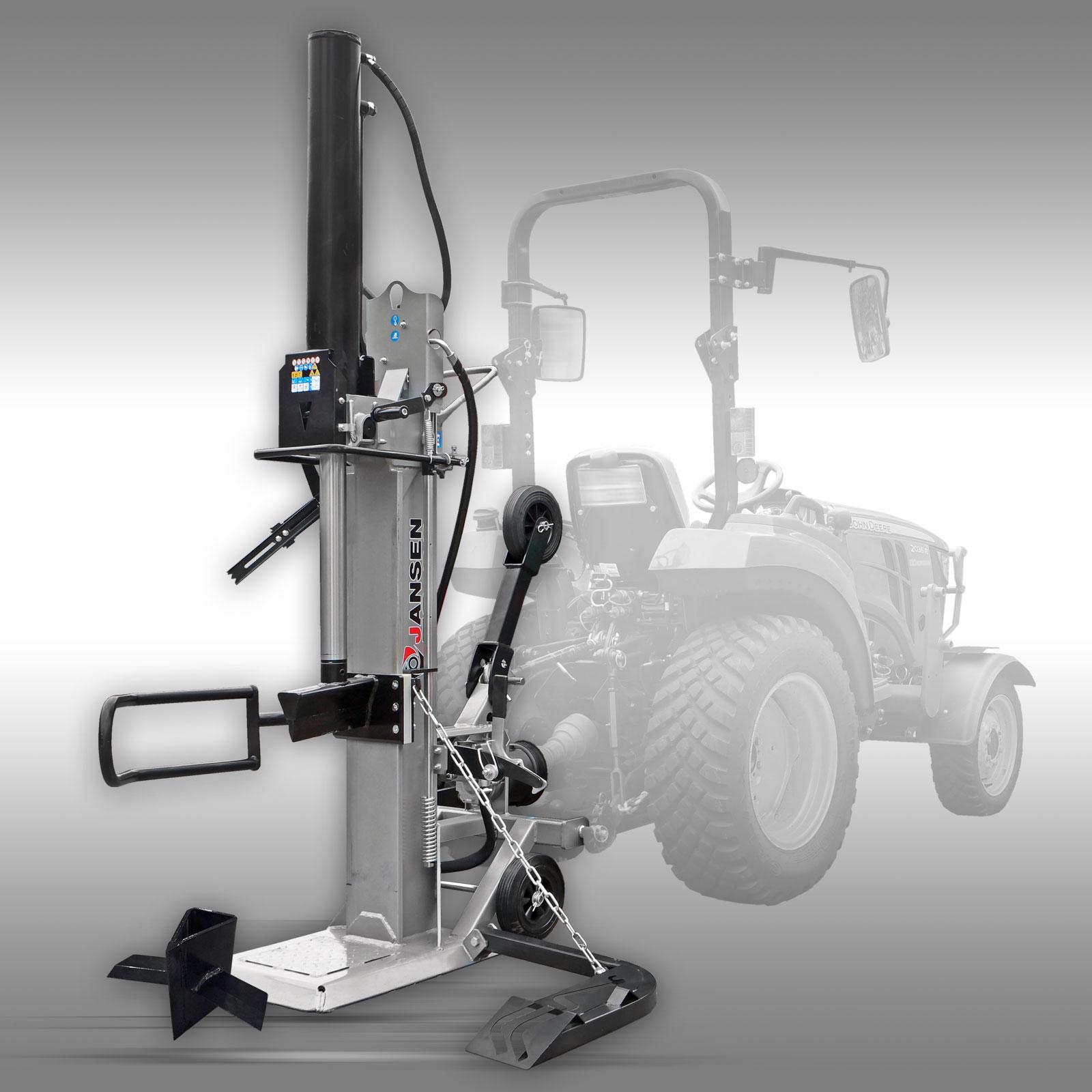 Jansen Houtklover TS-30, 30 t (aftakas), Kloofmachine, stamlift
