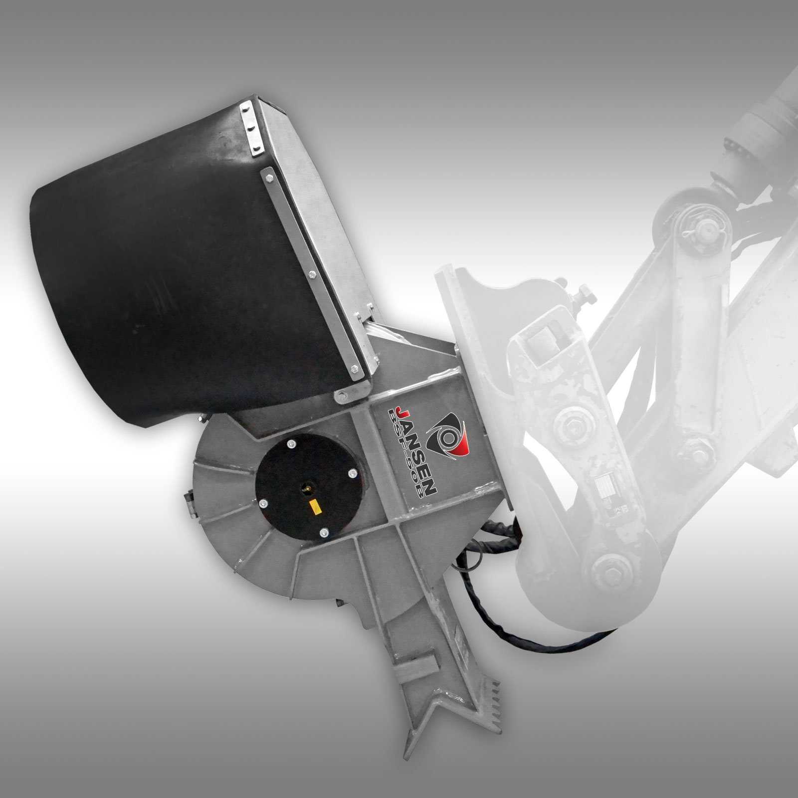 Jansen Stobbenfrees BSF-40B, hydr. boomstronkfrees, boomwortelfrees, graafmachine