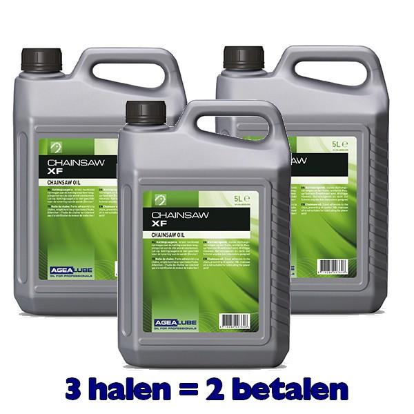 Agealube Chainsaw XF Kettingzaagolie 5 Liter (3stuks)