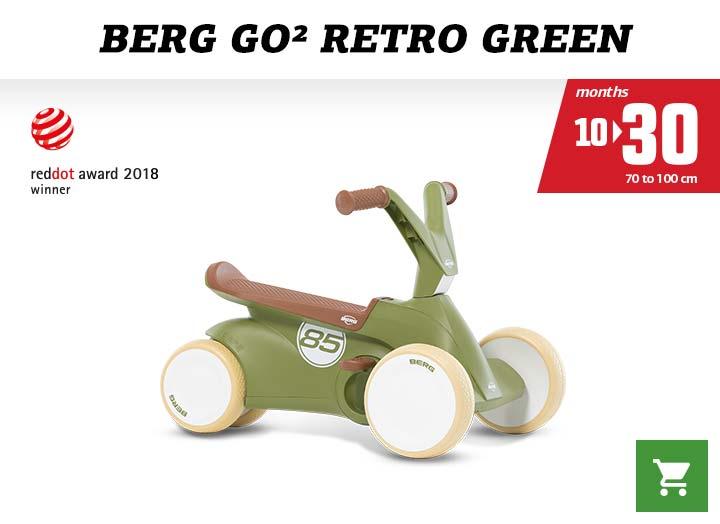 Berg GO2 Retro Green skelter