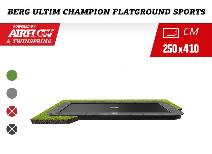 Berg Ultim Champion Flatground Trampoline + AeroWall 410