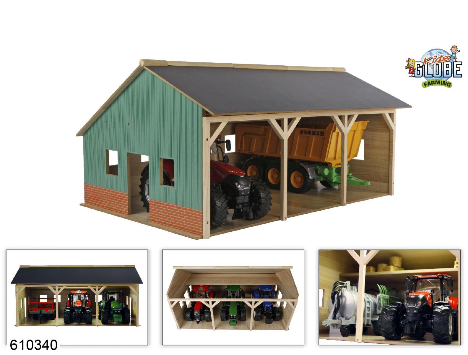 Kids Globe Landbouwloods voor 3 tractoren (1:16)