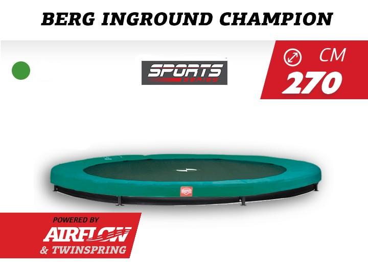 BERG Trampoline Inground Champion 270 groen Sportseries (airflow)