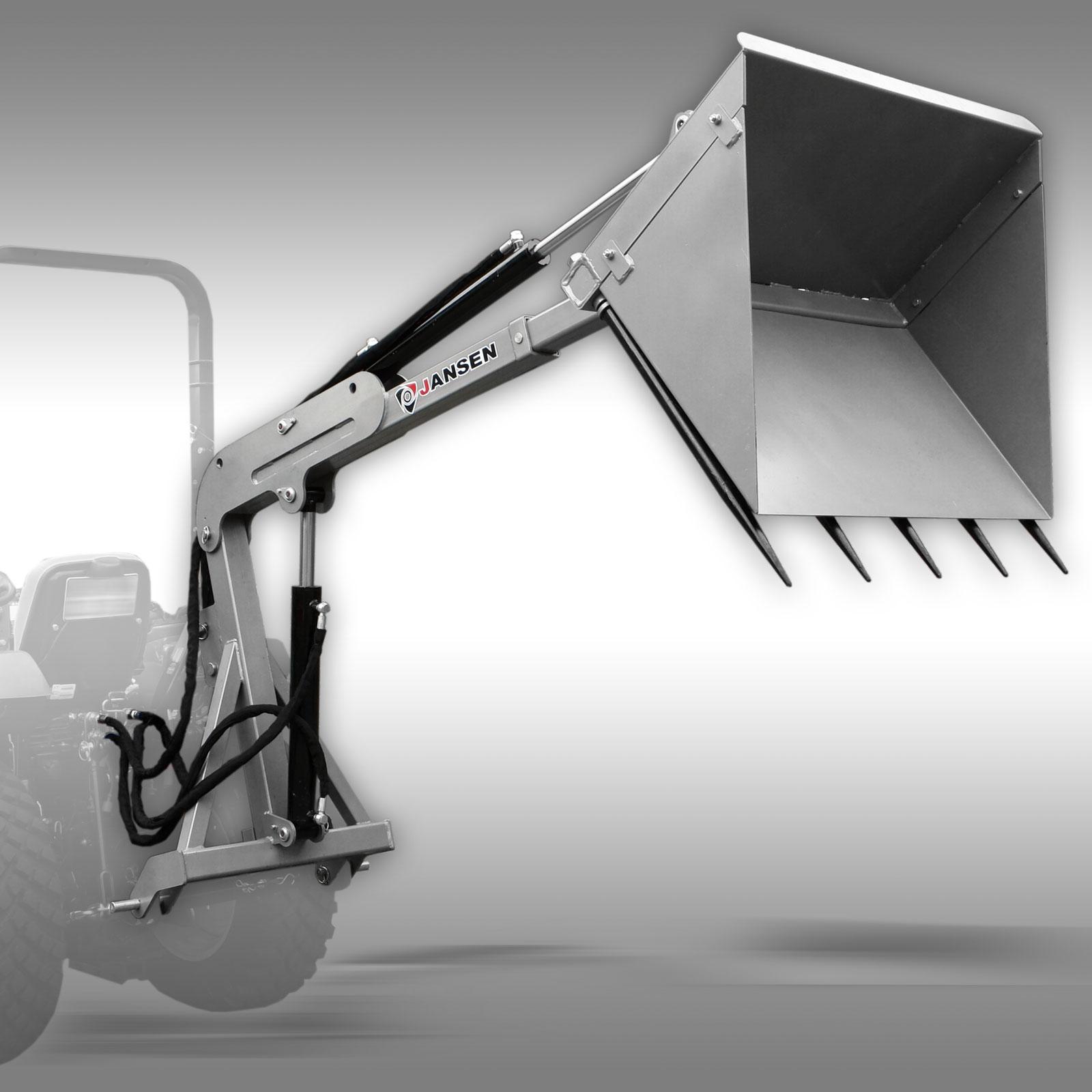 Jansen Achterlader DPS-350, hydraulische grondbak, shovel 3-punts