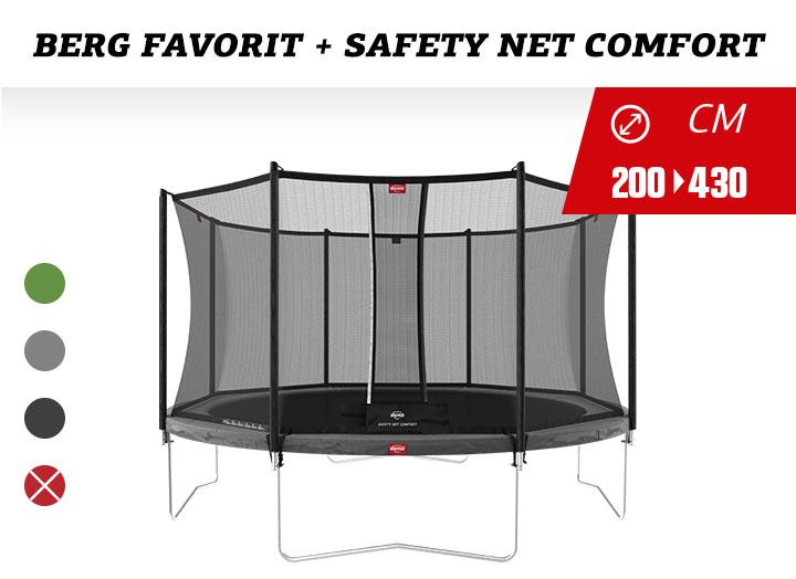 BERG Trampoline Regulair  Favorit + Safetynet Comfort 200-270-330-380-430