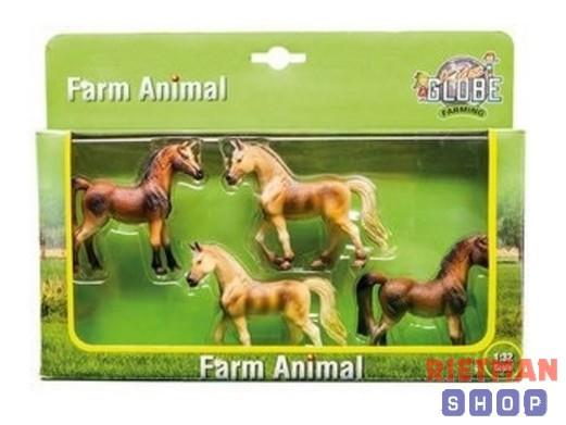 Set Kids Globe paard 4 stuks in geschenkset 1:32