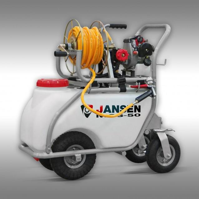 Jansen Spuitmachine MGS-50, veldspuit motorspuit