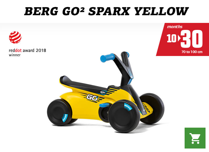 Berg GO2 Sparx Yellow skelter