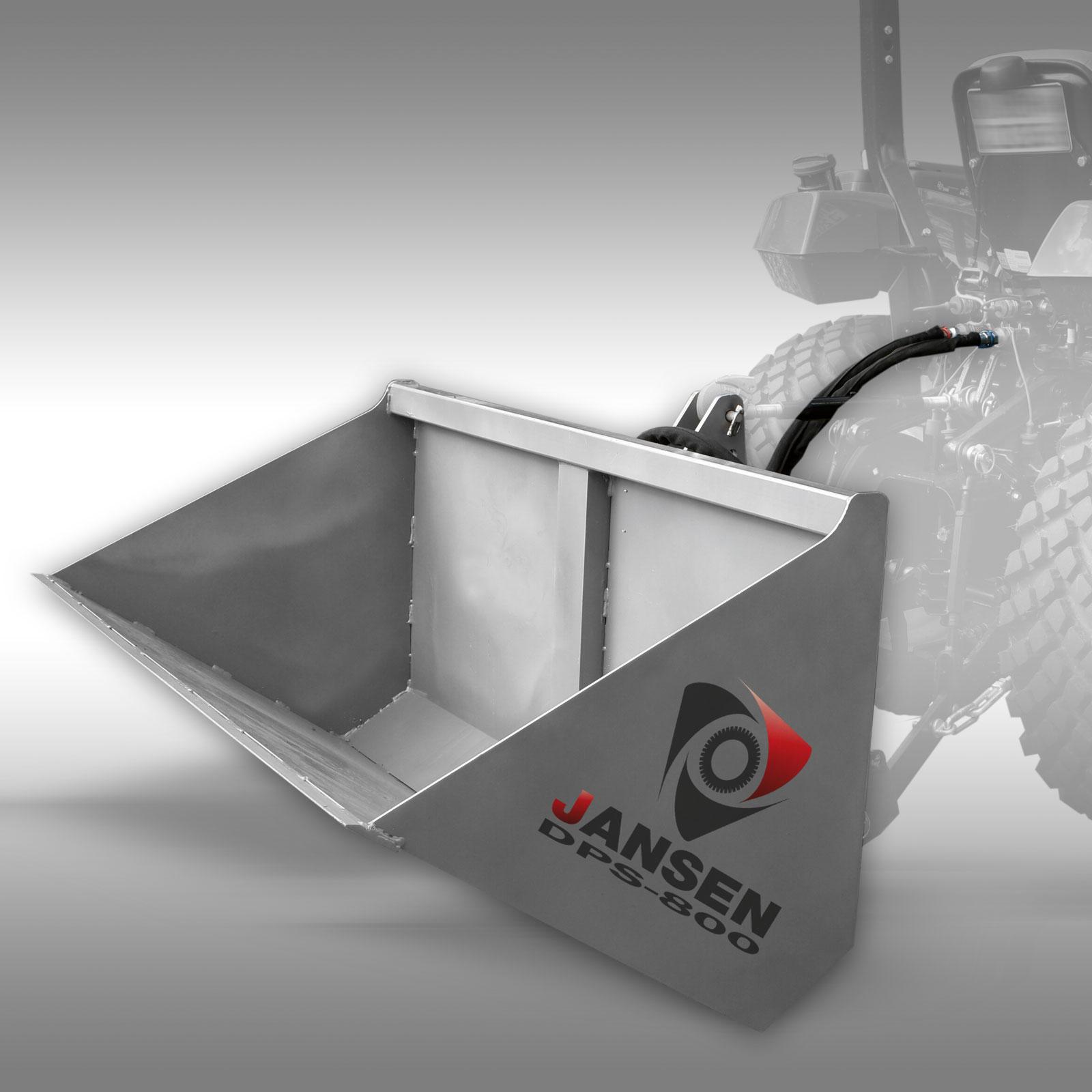 Driepuntsbak Jansen DPS-800 hydraulische grondbak, shovel container