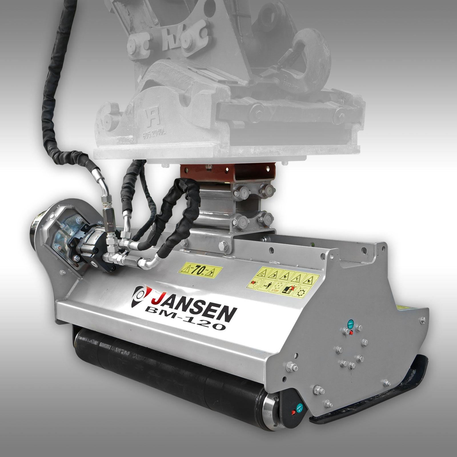 Jansen Klepelmaaier BM-120, hydraulisch, (mini)kraan, klepelmaaier