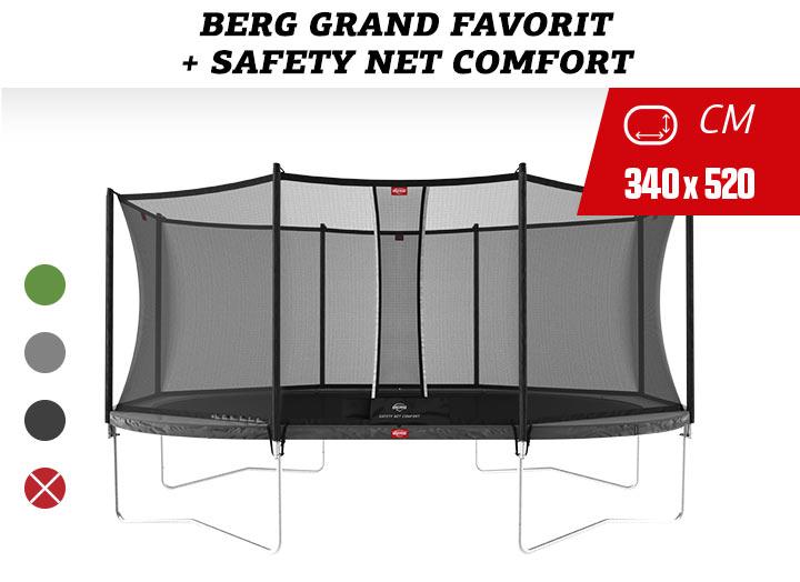 BERG Grand Favorit Regulair Trampoline   + Safetynet Comfort
