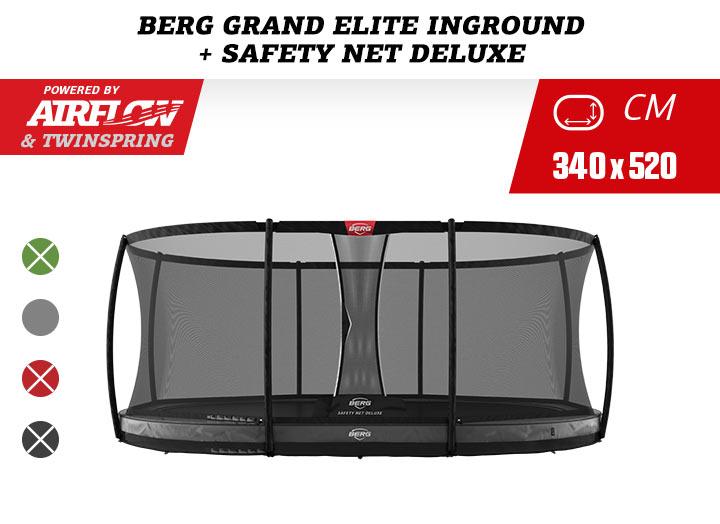 BERG Grand Elite InGround trampoline + Safetynet Deluxe 520