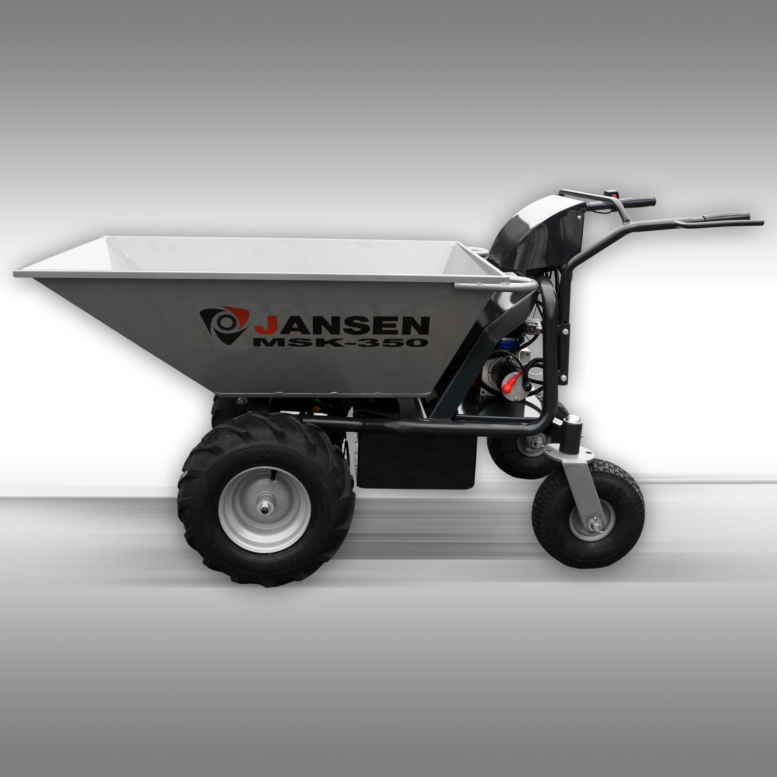 Motorische kruiwagen Jansen MSK-350 met 750W elektromotor