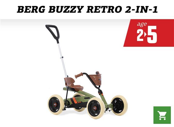 BERG Buzzy Retro Green Skelter (2-in-1)